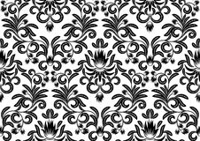 Black and white leaves Royalty Free Stock Images