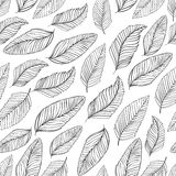 Black and white leaves pattern. Seamless Stock Photography