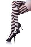 Black and white leggings Royalty Free Stock Image