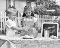 Black and White Lemonade Stand Stock Image