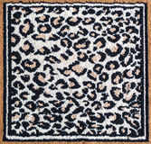 Black and white leopard tiger rug Royalty Free Stock Photo