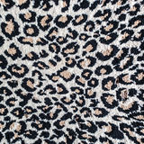 Black and white leopard tiger rug Stock Photo