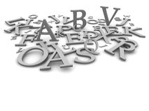 Black and white letters vector illustration