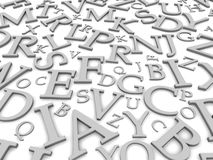 Black and white letters Stock Photo