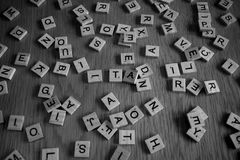 Black and white letters Royalty Free Stock Photo