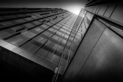 Black, white & light. Building in Almere, the Netherlands Stock Photo
