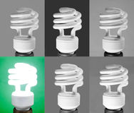 Black and White light bulbs Stock Image