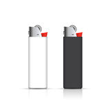 Black and white lighters   on white. Vector for corporate identity. Advertising template Royalty Free Stock Image