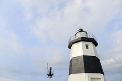 Black and white  lighthouse. Beautiful  lighthouse black and white  close up Royalty Free Stock Images