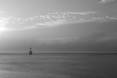 Black and white lighthouse Stock Images