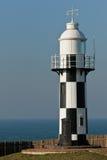 Black and white lighthouse. Port Shepstone black and white light house Stock Photos