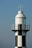 Black and white lighthouse. Port Shepstone black and white light house Stock Photo