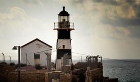 Black and white lighthouse Royalty Free Stock Photography