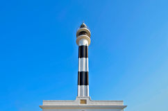 Black and white Lighthouse tower Stock Image