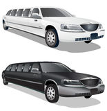 Black and White Limos Stock Photos