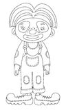 Black and white line art illustration of circus Stock Photo