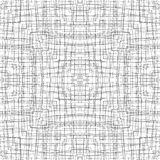 Black and white line fabric seamless pattern Stock Photography