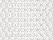 Black and white linear futuristic floral ornament. Seamless modern floral black and white ornament stock illustration