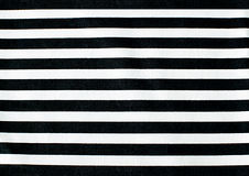 Black and white linear tablecloth Stock Photos