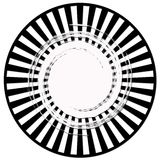 Black and white lined abstract Royalty Free Stock Image