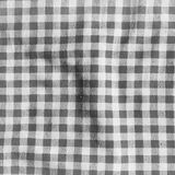 Black and white linen crumpled tablecloth. Royalty Free Stock Photos