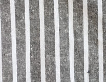 Black and white linen texture. Black and white stripe linen fabric Stock Photography