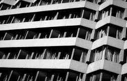 Black and white lines. Architecture abstract Royalty Free Stock Image