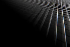 Black and White lines with black corner Royalty Free Stock Photos
