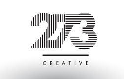 273 Black and White Lines Number Logo Design. 273 Black and White Number Logo Design with Vertical and Horizontal Lines Royalty Free Stock Images