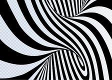 Black and white lines optical illusion horizontal background Royalty Free Stock Image