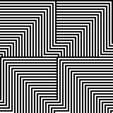 Black and white lines pattern Royalty Free Stock Photos