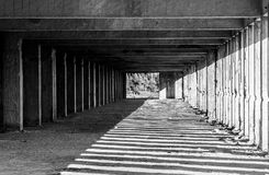 Black and white lines. Black and white photography lines and corners Royalty Free Stock Photo