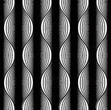 Black and white lines seamless pattern. Royalty Free Stock Photos