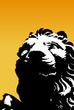 Black and white lion. Vector Royalty Free Stock Photography