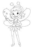 Black and white - Little fairy Royalty Free Stock Photo
