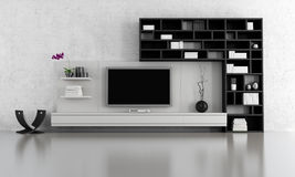 Black and white  living room Royalty Free Stock Photography