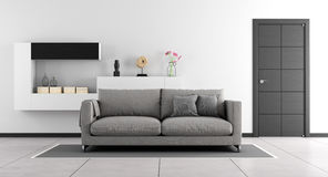 Black and white living room Stock Photography