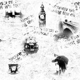 Black and white London grunge background Royalty Free Stock Photos