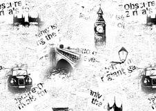 Black and white London grunge background Stock Photos