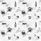 Black and white London newspaper background Royalty Free Stock Images