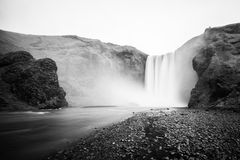 Skogafoss waterfall in the morning, Iceland Stock Photography