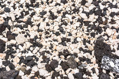 Black and White. A lot of blach and white stones on the beach in Big Island, hawaii Stock Images
