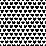 Black and White Love Hearts Royalty Free Stock Image