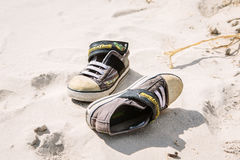 Black and White Low Top Sneakers Stock Image