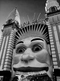 Black and White Luna Park Entrance Stock Photo
