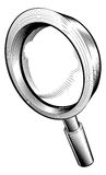 Black and white magnifying glass Royalty Free Stock Photos