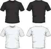Black white male shirt design template Stock Images