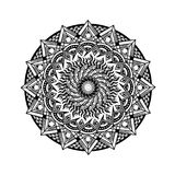 Black and white mandala ancient egypt design. Mandala images that can be printed in any media, on tshirt, poster, etc Royalty Free Stock Image
