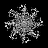 Black-and-white mandala stock illustration