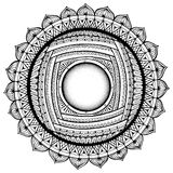 Black and white mandala, coloring book pages for adults, kids. Stock Images